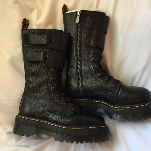 Dr Martens Jagger Black Combat Boot Women s 7 ba45b7ad1